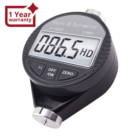 560-10D Shore D Digital Hardness Meter Durometer 0~100HD Pocket Size Tester with LCD Display - Gain Express