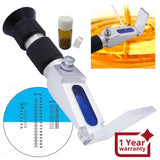 Rhbn-90Atc New Handheld 58~90% Atc Honey Refractometer Water Brix Baume With