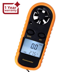 AM-816 2-in-1 Mini Handheld Digital Anemometer with Thermometer, Air Flow Wind Speed Meter, Beaufort Wind Scale Bar Graph, Ideal for Drone Flying, Sailing, Ventilation System Airflow Measurement, m/S , km/H , Ft/min., Knots, mph, Celsius or Fahrenheit