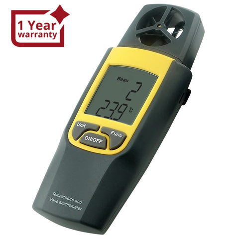 VA-8020 Anemometer Thermometer, Air Speed Temperature °C / °F HVAC Dual Meter Tester, 80~4000fpm (0.4~20m/s), -10~50°C (14~122°F)