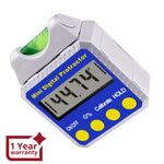 810-100SS Digital Bevel Box Inclinometer with Spirit Level Angle Finder Protractor Always Upright Reading - Gain Express