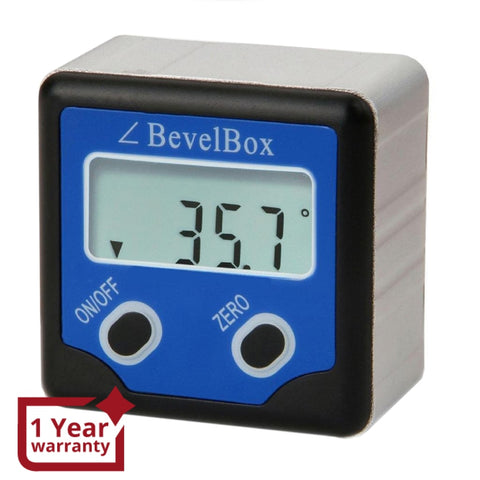 AG-0200BB Digital 360° Bevel Box / Inclinometer with Magnets Protractor Angle Finder 0.1° Accuracy IP54 Rate - Gain Express