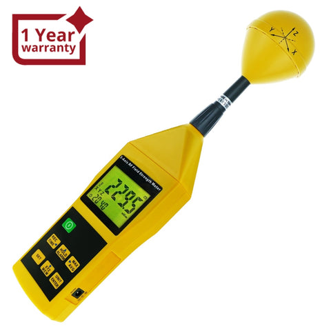 Tm-196 Triaxial Tri-Axis Rf Field Strength Meter Electromagnetic Radiation Tester Detector 10Mhz To