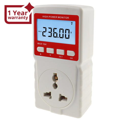 Pcm-283 Digital Power Meter Electricity Usage Monitor Watt Voltage Tester Electrical High