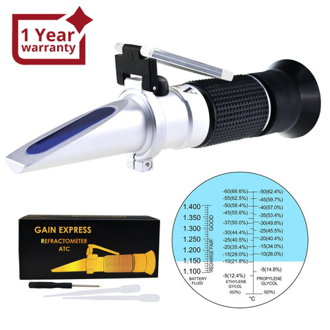 Rea-200Atc 3-In-1 Automotive Battery Antifreeze Refractometer -60~0°C Ethylene/ -50~0°C Propylene