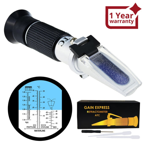 Rea-503Catc 5-In-1 Automotive Battery Antifreeze Refractometer Atc For Specific Gravity Ethylene
