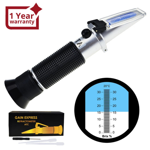 Reb-32Atc 0-32% Brix Refractometer Atc High-Concentrated Sugar Solution Content Test Tool 0.2%
