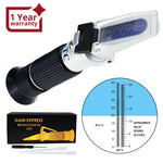 Rew-25Batc Grape Fruit Wine Alcohol Refractometer With Atc Dual Scale 0-25% Vol 0-40% Brix Handheld