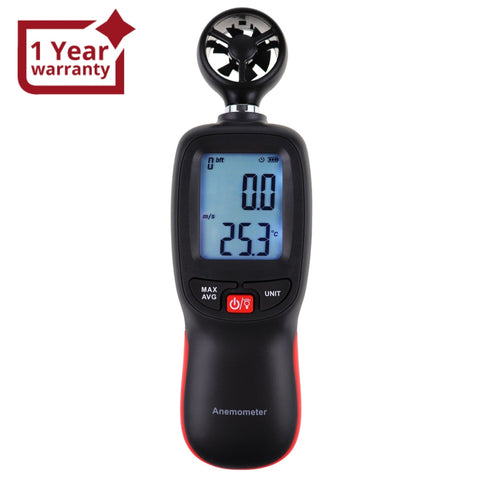 Ane-271 Digital Handheld Anemometer Wind Speed Meter Measure Temperature Air Velocity Chill Gauge