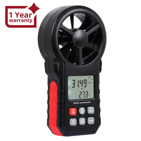 Ane-272 Digital Vane Anemometer Handheld Wind Speed Temperature Meter Air Velocity Chill Tester