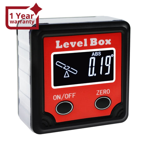 AGF-260 Digital Level Box Protractor Angle Finder Bevel Gauge Magnetic Base with Tilt Direction Indicator, 360° (4 x 90°) Inclinometer Cube Meter Measurement Tool for Woodworking Installation - Gain Express