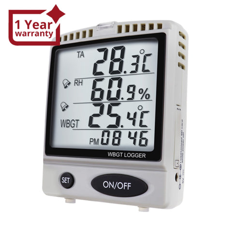 Az87797 Wbgt Sd Card Datalogger Temperature Humidity Meter Desktop / Wallmount Logger With 8Gb Sdhc