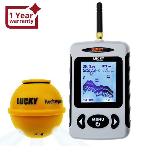 Ffw-718La Lucky Wireless Fish Finder W/ Attracting Light Lamp Portable Rechargeable Locator 45M