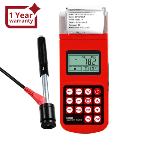 Mh310 Portable Leeb Hardness Tester Meter Guage 170960 Hld Steel Cast Iron Lcd El Back-Light With