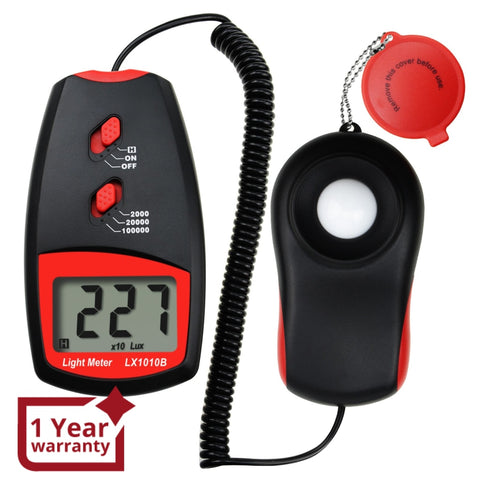 Lx-1010Bn Digital Light Meter Luxmeter 0~100 000 Lux W/ Selectable Range X1 X10 X100 Handheld