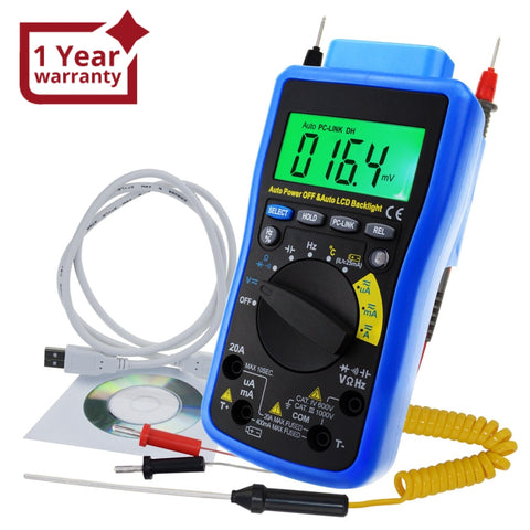 Mul-211 Digital Dmm Multimeter Meter Tester With Usb/ Software Cd And Data Output Function Ac Dc