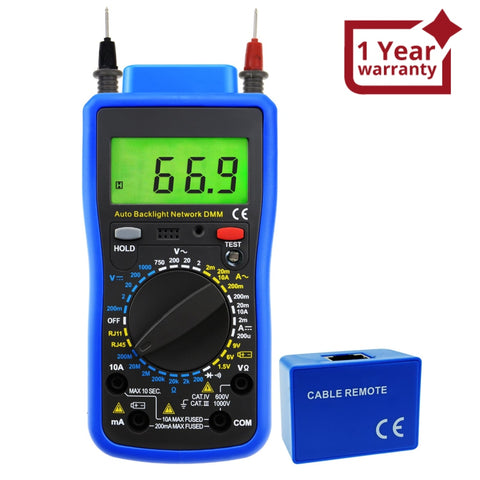 Mul-213 Network Digital Multimeter Tester Multi Meter Telephone Line Rj11 Cable Rj45 Ac Dc Voltage