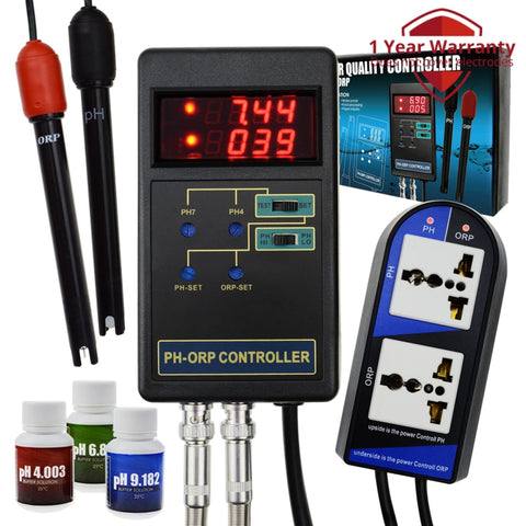 Phc-244 2 In 1 Digital Ph & Orp Redox Controller With Separate Relays Repleaceable Electrode Bnc