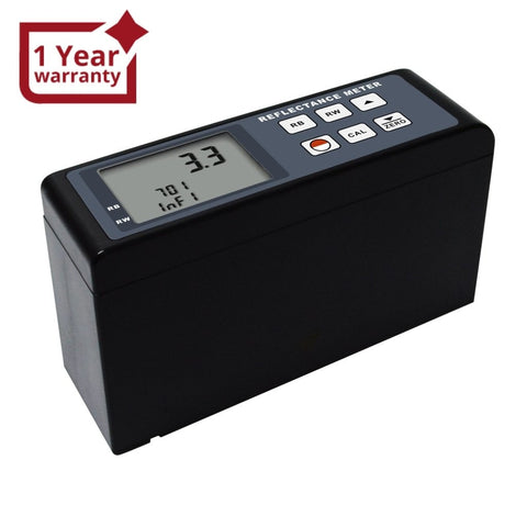 RM-206 Digital Reflectance Meter 0~100 Range Portable Cryptometer Light Reflectivity Transparency Tester for Specular Diffuse Surfaces Coatings Pigments Plastics Printing Leather Film