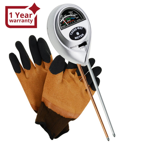 Sqm-257S_Glove 3-In-1 Soil Ph Moisture Light Meter Tester Probe Sensor Gardening Plants Growth