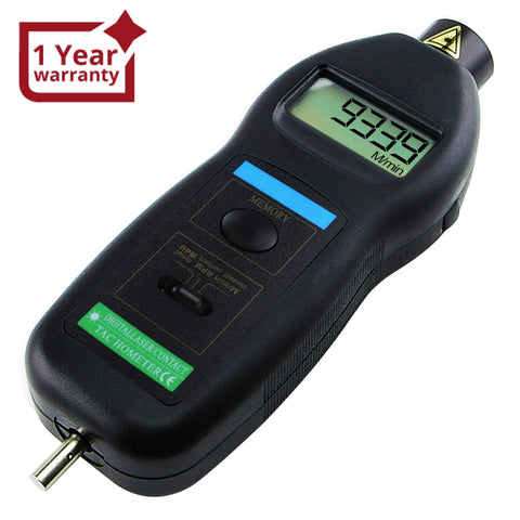 Dt-2236C 2In1 Digital Contact And Non-Contact Tachometer Laser / Photo W/ Ft & M/min Rpm Auto