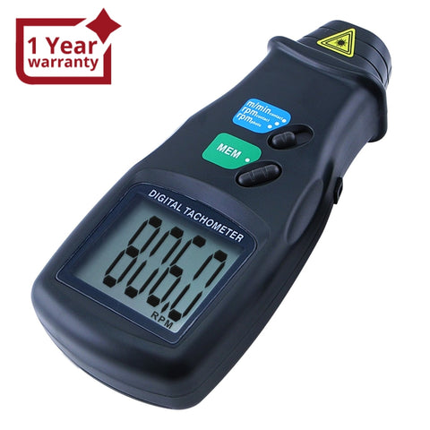 DT-6236B 2in1 Digital Laser Photo Tachometer Non-Contact & Contact RPM Gauge CE Marking Handheld Tester - Gain Express