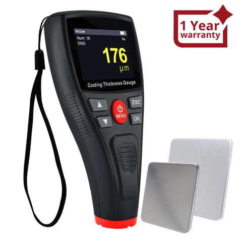Ctm-276 Professional Thickness Meter Gauge Digital Hd Colored Display Car Paint Coating Tester