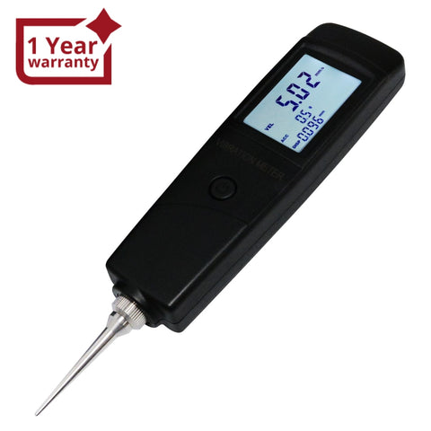 Vm-213 Digital Vibration Meter Tester Piezoelectric Sensor Measuring Acceleration Velocity And