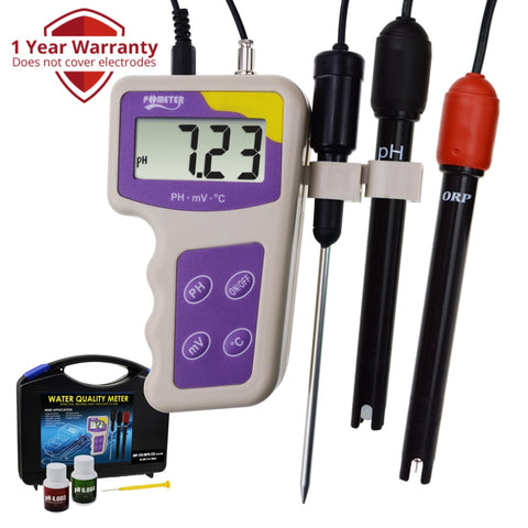 Orp-235 Ph Mv Orp Temperature 3 In 1 Redox Meter Removable Electrode Portable Water Quality Tester