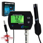 Phm-245 Ph & Temperature 2-In-1 Continuous Monitor Meter W/ Backlight Replaceable Electrode Dual