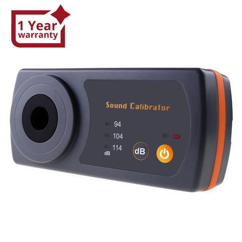 8930B Compact Sound Level Calibrator 114dB / 94dB / 104dB Calibration Level 13.2mm Cavity Diameter with LED Indicator