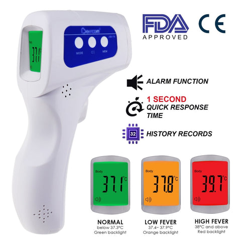 The-293 Forehead Body Human Adult Infant Infrared Thermometer 32 Memory Fda Approved Temperature