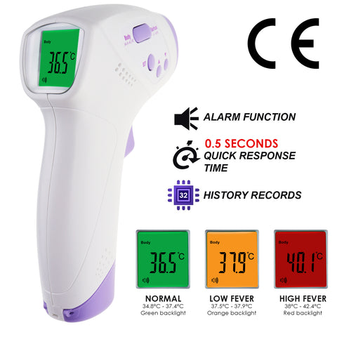 THE-294  Digital 2-in-1 Body Surface Thermometer Forehead Human Baby Infant Adult Temperature Tester 0.5 Sec Quick Respond