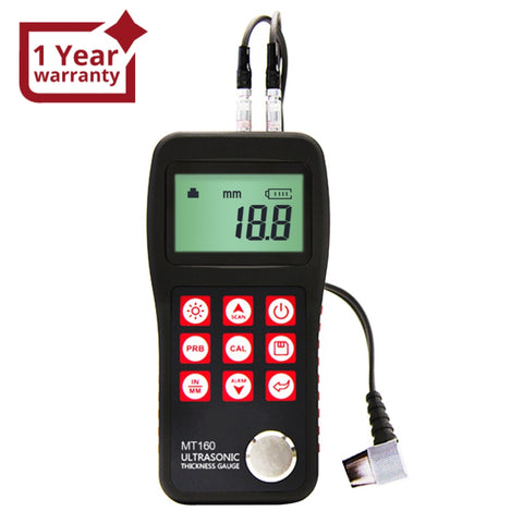 Mt160 Digital Ultrasonic Metal Fiber Glass Thickness Gauge 0.75 ~ 300Mm With Usb Communication Port