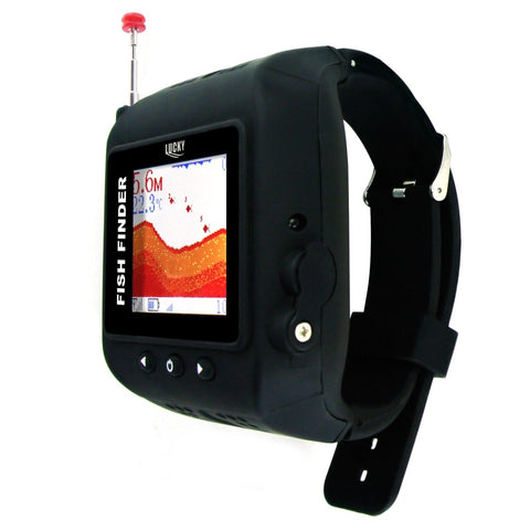 FF-518 WRIST WATCH Wireless 45M FISH FINDER CLOCK Mode Fish Detector  Colored Display Multi Language