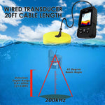 Ff-718Lic 2-In-1 Lucky Fishfinder Wireless/wired Sensor English/russian Menu 328Ft/100M Waterproof