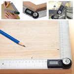 AG-200D Digital 2-in-1 Angle Finder Meter Protractor Ruler 360° 400mm Measure CE Marking LCD Display - Gain Express