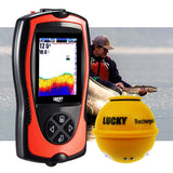 Ff-1108-1Cwla Lucky Wireless Fish Finder With Attractive Light Lamp & Color Lcd Portable