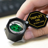 Gem-251 15X Jewelry Loupe Magnifier 20.5Mm Triplet Lens Achromatic Optical Glass Magnifying Tool
