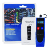 CAB-38 OPM Optical Power Meter Digital Power Factor Meter,  -70 ~ 6dBm with 6 Optic Wave Length, Portable Fiber Optic Cable Tester with FC converter for FC/SC/ST - Gain Express