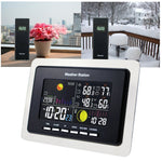 Ws-104_Us_2S Wireless Weather Station Temperature Humidity Wwvb 2 Remote Sensor Indoor Outdoor 110V