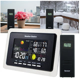 Ws-104_Eu_3S Weather Station Indoor Outdoor Temperature Humidity Rcc Dcf 3 Wireless Remote Sensors