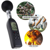 Az87786 Wbgt (Wet Bulb Globe Temperature) Heat Stress Meter Datalogger Air Temperature Humidity