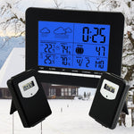 S08S3318Bl_2S In/out Temperature Wireless Weather Station Dcf Radio Controlled Clock 2 Sensor