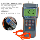 82152 Digital Differential Air Pressure Manometer 15.000psi Gauge High Accuracy Portable Meter HVAC Test Tool - Gain Express