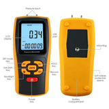 Man-277 Digital Manometer Air Pressure Meter Differential Gauge Dual Port Hvac Gas Tester Handheld