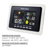 Ws-104_Eu_2S Wireless Weather Station Temperature Humidity Rcc Dcf 2 Remote Sensors Indoor Outdoor