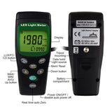 Tm-209 Digital Led Light Lux / Fc (Footcandle) Meter Luminous Intensity Measurement Luxmeter 400000