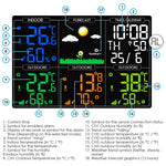 Wea-289 Digital Wireless Weather Station Indoor Outdoor Thermometer Humidty With Alarm Clock Color