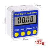810-100  Digital Bevel Box Inclinometer with Magnets & Always Upright Display Protractor Large LCD - Gain Express